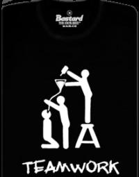 TeamWork černé pánské tričko