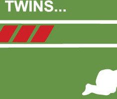 Těhotenské tričko s motivem Uploading twins... - tričko se dvojčátky