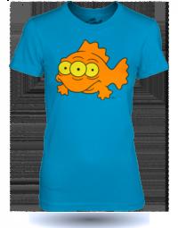 The Simpsons Three Eye Fish modré tričko dámské velikost L