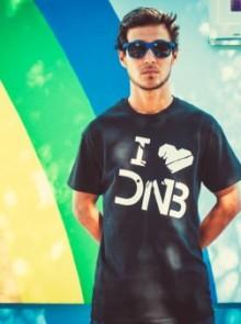 Tričko I love DNB