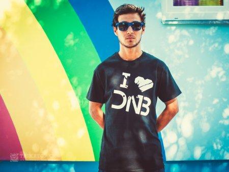 Pánské a dámské tričko I love DNB 599f174c58