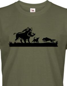 Tričko pro myslivce Lov divokých prasat - ideální dárek k narozeninám