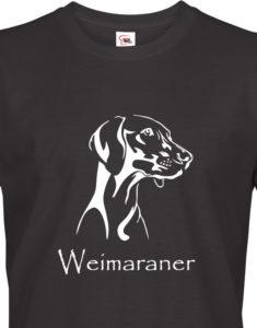 Tričko pro myslivce Výmarský ohař - ideální narozeninový dárek