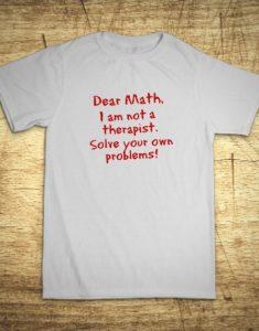 Tričko s motívom Dear math