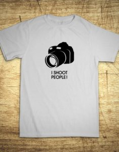 Tričko s motívom I shoot people!