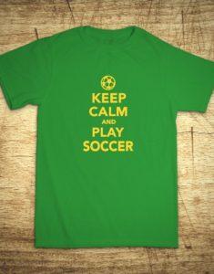 Tričko s motívom Keep calm and play soccer