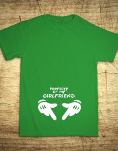 Tričko s motívom Property of my girlfriend