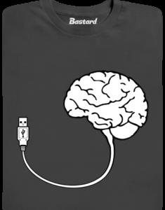 USB mozek šedé pánské tričko