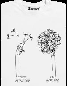 Výplata bílé pánské tričko