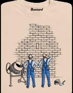 Zedníci hnědé pánské tričko